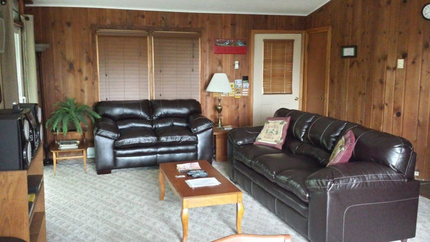 living room in Vista Grande rental cabin